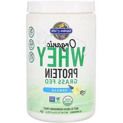 Garden of Life  Organic Whey Protein Grass Fed  Vanilla  13