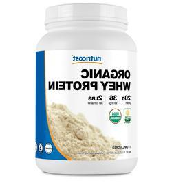 Nutricost Organic Whey Protein Powder  2 LB - Non-GMO