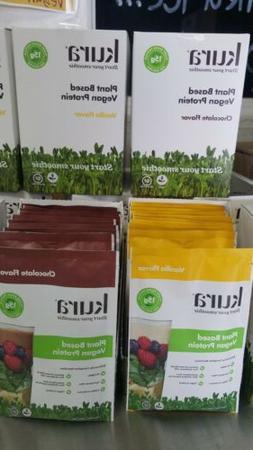 Kura Plant Based Vegan Organic Protein Powder Vanilla and Ch