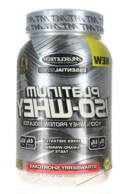 MuscleTech Platinum 100% ISO Whey Supplement, Gourmet Milk C