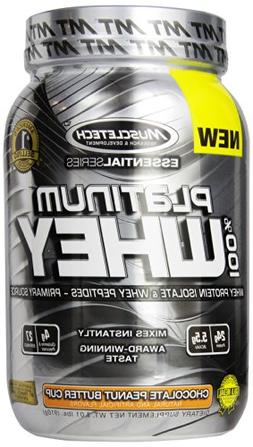MuscleTech Platinum 100% Whey Supplement, Chocolate Peanut B