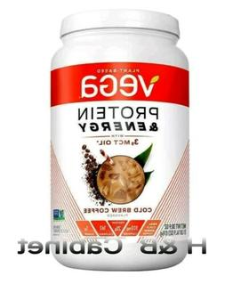 Vega Protein & Energy with 3g MCT Oil Cold Brew Coffee, 30.9