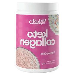 Kiss My Keto Protein Powder - Birthday Cake Keto Collagen Su