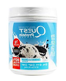 Quest Protein Powder Cookies & Cream 16 oz For Shakes, Bakin