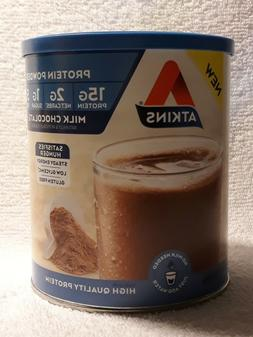 ATKINS PROTEIN POWDER MILK CHOCOLATE FLAVOR 10.2 OZ, 2 PACK