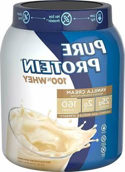 Pure Protein Powder, Whey, High Protein, Low Sugar, Gluten F