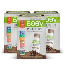 Vega Protein Shake RTD, Vegan, Gluten Free, Non-GMO, 12 Serv