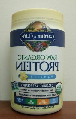 Raw Protein Vanilla 21.86 oz Garden of Life Vegan Protein Or