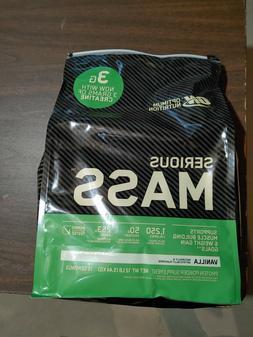 OPTIMUM NUTRITION SERIOUS MASS Vanilla 12 lb Protein Powder