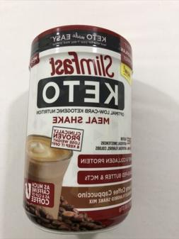SlimFast Keto Meal Replacement Shake Powder, Creamy Coffee C