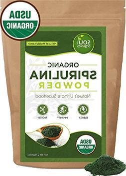 Organic Spirulina Powder Purest Source & Maximum Nutrient Pr