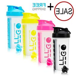 Fitness Sport Gym Protein Supplement Shaker Bottle 28oz Cup+