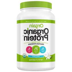 Orgain USDA Organic Plant Protein Powder, Vanilla Flavor 2.7