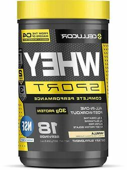 Cellucor Whey Sport Protein Powder, Vanilla, 18 Servings